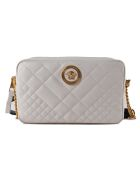 Versace Quilted Shoulder Bag - T Off White Nero Oro Tribute