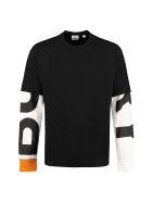 Burberry Printed Cotton T-shirt - black