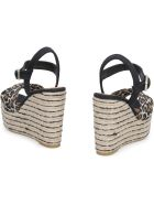 Castañer Jeanne Canvas Wedges With Crossed Bands - Multicolor
