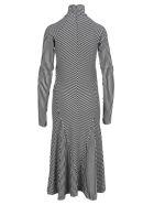 Haider Ackermann Striped Mini Dress - BLACK/WHITE
