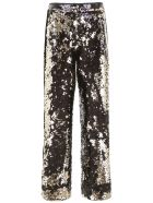 In The Mood For Love Sequins Palazzo Pants - SILVER (Black)