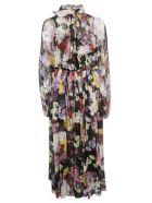 Dolce & Gabbana Floral Print Long Pleated Dress - Hnwortensie Fiori
