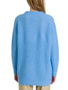 Ganni V Neck Sweater - Azzurro