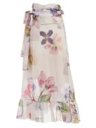 Ganni Floral Wrap Skirt - Bright White