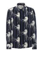 Chloé Printed Shirt - 99g Blue White