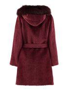 Max Mara Studio Osmio Hooded Alpaca-blend Coat - Burgundy