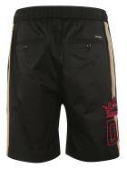 Dolce & Gabbana Side Stripe Track Shorts - Black