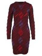 Y/Project Long Sleeves Knit Dress - DARK RED