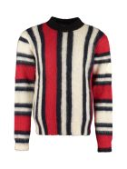 Moncler Striped Mohair Sweater - Multicolor