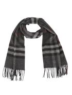 Burberry Giant Cashmere Scarf - Charcoal