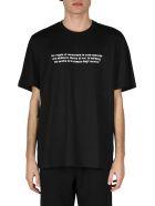 MSGM Cotton T-shirt With Print - Black