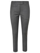 Dondup Checked Slim Trousers - Nero