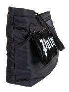 Palm Angels Horizontal Logo Shopper Bag - Black/White