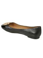 Tory Burch Chelsea Cap-toe Ballerinas - Black