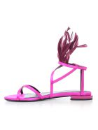 Lanvin Fringed Detail Sandals - Shocking Crimson Red