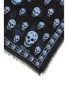 Alexander McQueen Full Skull Scarf - NERO PAVEMENT (Black)
