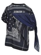 Sacai Top Bandana - NAVY