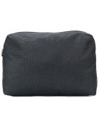Borbonese Micro-printed Make-up Bag - Nero