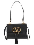 Valentino Medium V-ring Shoulder Bag - BLACK