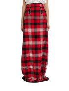Dsquared2 Long Skirt In Check Flannel - Rosso