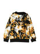 Young Versace Patterned Sweatshirt - Bianco/nero/oro