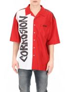 M1992 Bicolor Printed Shirt - ROSSO (Red)