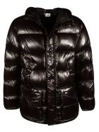 C.P. Company Zip Hooded Padded Jacket - Black