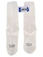 Ader Error Logo Patch Socks - WHITE