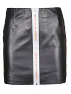 HERON PRESTON Reflective Tape Skirt - Black Orange