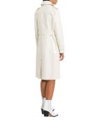 Unfleur White Patent Leather Trench - White