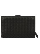 Bottega Veneta Crossbody Wallet - Nero