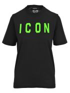 """Dsquared2 D Squared Dsquared """"icon"""" Printed T-shirt - BLACK + GREEN"""
