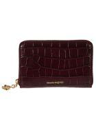 Alexander McQueen Leather Zip Around Wallet - Velvet red
