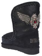 Mou Eskimo 24 Eagle Patch Boots - Cracked black