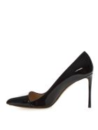 Francesco Russo Black Patent Leather Pumps - Black