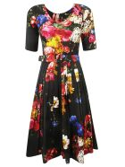Samantha Sung Floral Dress - Black multi