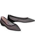 Stuart Weitzman Tasha Flat Pointy-toe Ballet Flats - black