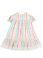 Gucci White Dress For Babygirl With Double Gg - White