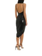 In The Mood For Love Roxy Slit Dress - Nero