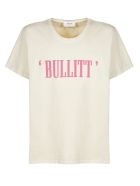 Rhude Logo Print T-shirt - Beige fuxia
