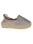 Espadrilles Flat Shoes - Beige/SILVER