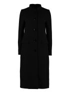 Givenchy Single-breasted Wool Coat - black