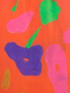 Daniela Gregis Silk Pants Elastic Waist Fantasy - Tiglio Arancio Drawing