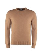 Drumohr Crew-neck Wool Sweater - Camel