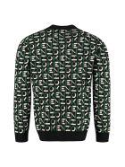 Kenzo All Over Logo Crew-neck Sweater - black
