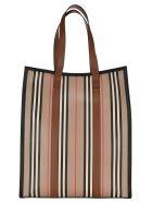 Burberry London Icon Vertical Stripe Tote - ARCHIVE BEIGE STRIPES
