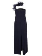 Ralph Lauren Black Label Lowell Eve-sleeveless-evening Dress - Deep Navy