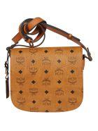 MCM Patricia Visetos Shoulder Bag - Cognac