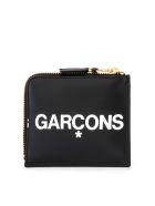 Comme des Garçons Wallet Huge Wallet Logo In Black Leather With L Closure - NERO