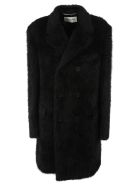 Saint Laurent Double Breasted Coat - Black